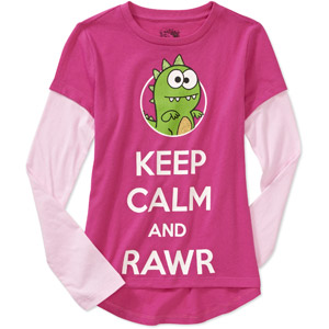 Girls' Rawr shirt from Walmart