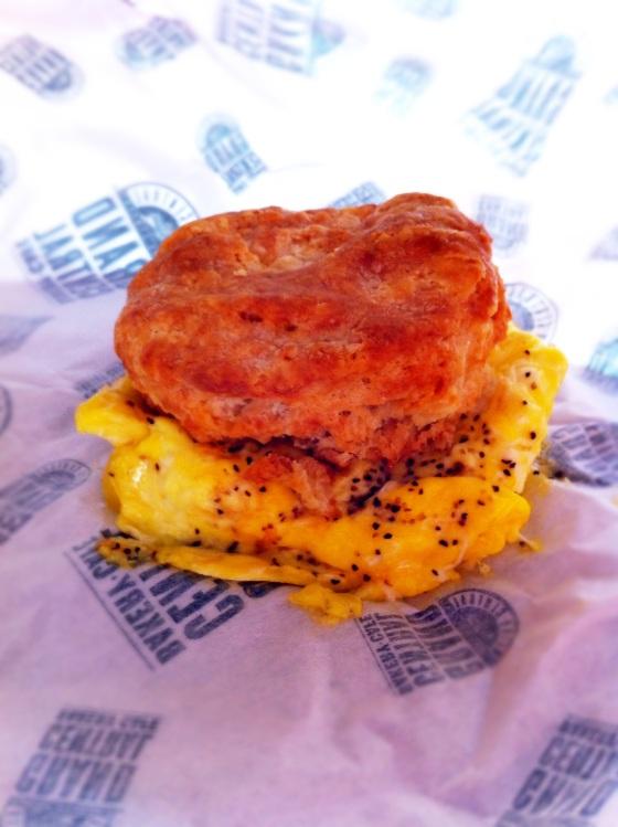 Cheddar Egg Biscuit Sandwich