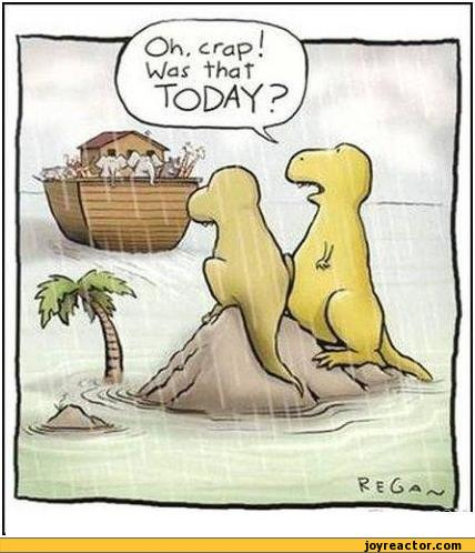 Dinosaurs missed the boat