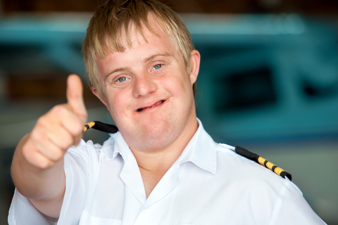 Pilot with down syndrome